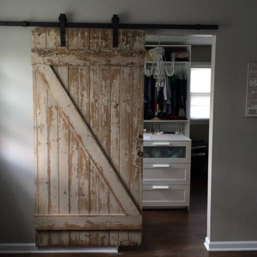 real antique wood barn door