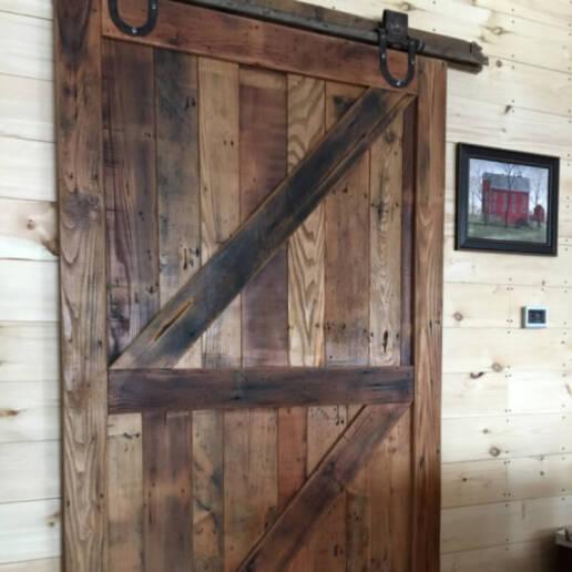 real antique wood barn door 4