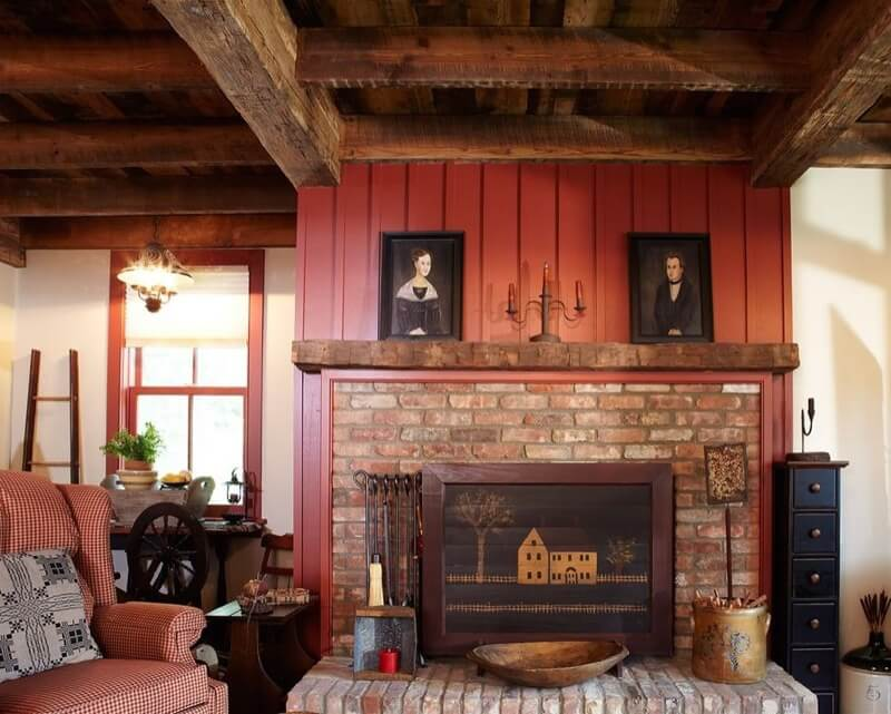 real antique wood Beam Fireplace Mantels Image 1