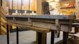 real antique wood custom mantel