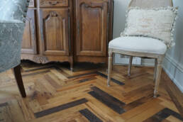 real antique wood creative floor
