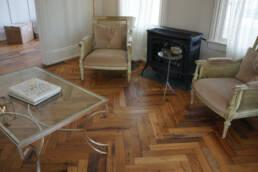real antique wood herringbone floors
