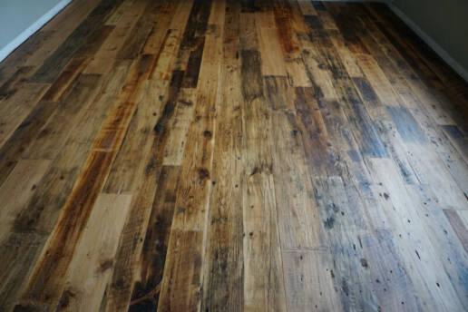 real antique wood floor