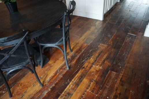 real antique wood salvaged floor