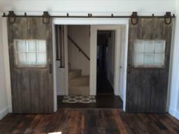 real antique wood double barn doors