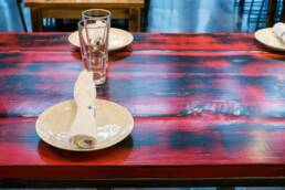 real antique wood table Surf 12