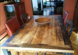 real antique wood Table in its home