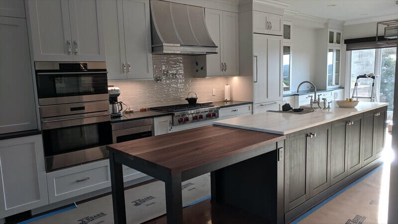real antique wood kitchen