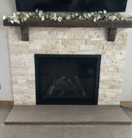 real antique wood fireplace mantel