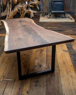 real antique wood Walnut Table with Legs