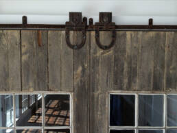 real antique wood barn doors detail 10