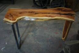 real antique wood cedar table