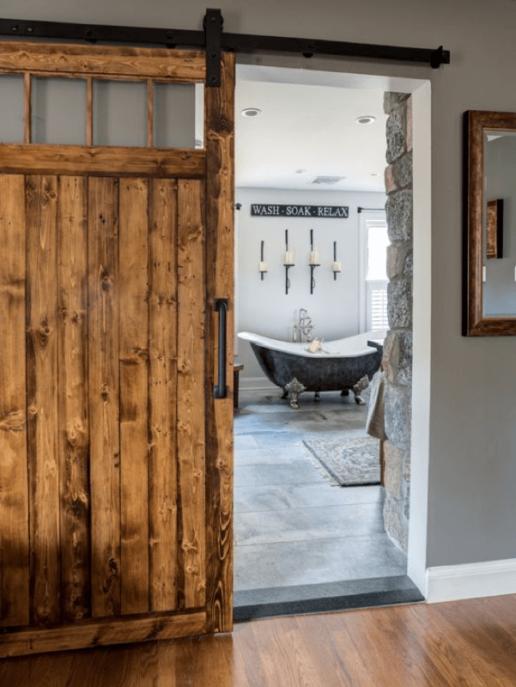 real antique wood reclaimed wood door