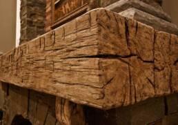 antique wood mantel