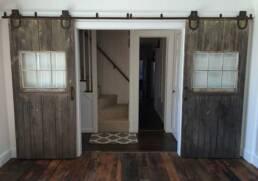 real antique wood barn doors