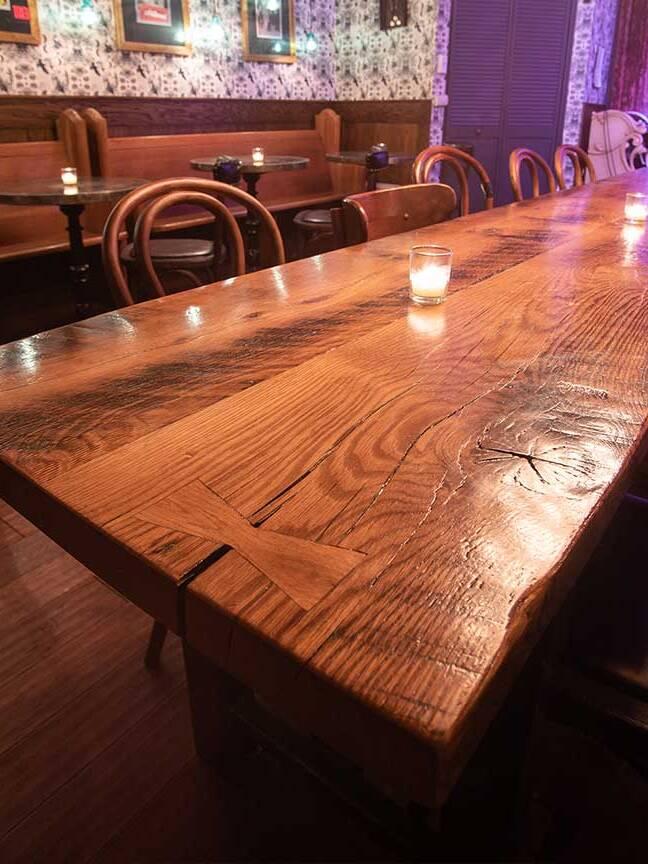 Real Antique Wood Custom Wood Tables